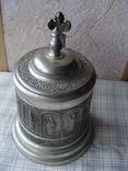 Коллекционная Пивная Кружка Бокал с изображением Святых. Клеймо, фото №4