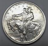 50 центов. США.1925г. Стоун-Маунтин. AU Серебро.