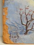 832. Подписная 1998, зимний пейзаж, картон, масло. 23х20,7 см. photo 7