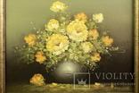 Цветочный натюрморт. Масло. Холст. Anton Domberg (1882-1954). Европа. (0845) photo 2