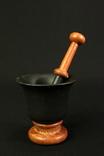 Чугунная ступка с пестиком. 1,83 кг. Европа. (0919) photo 3