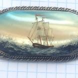 Брошка в срібном окладі,ручна роспись photo 5