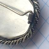 Брошка в срібном окладі,ручна роспись photo 7
