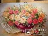 Симпатичные розы в вазе. 60х90 см photo 1