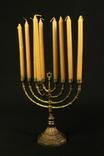 Ханукия со свечами. Латунь. (0918)