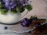 ''Фиалки в чайнике''. 25х35 масло холст Л. Колядова photo 4
