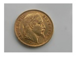 Франция 20 франков 1868 г photo 1