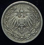 Германия 1-2 марки 1906 F серебро