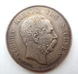 5 МАРОК,1902.Посмертные,Альберт,Саксония.