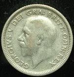Великобритания 6 пенсов 1927 серебро photo 2