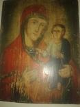 Старинная икона на дереве Богородица