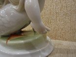 Нильс на гусе. Мартине фарфор Венгрия ручная роспись photo 12