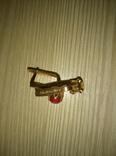 Золотые серьги с рубинами, СССР, 583 проба