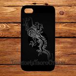 Чехол 2D силиконовый (TPU) iPhone 5/5S Черный. Дракон, фото №2