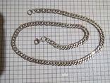 Серебряная цепочка, длина 42.5 см., фото №2