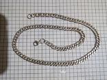 Серебряная цепочка, длина 42.5 см., фото №3