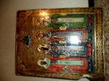 Старая икона в позолоте размер 22-17.5 см