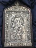 Владимирская икона Божьей Матери (серебро)