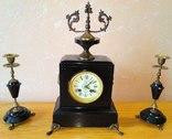Каминные часы с подсвечникам