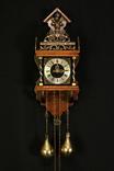 Настенные маятниковые часы WUBA с боем. Винтаж. Голландия. (0936)