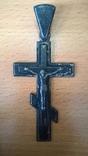 Крупный серебряный крест,конец 19-го века