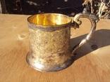 Подстаканник серебро 84, Харбин, вес 161 гр.