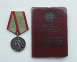 """Медаль """"За отличие в охране государственной границы СССР"""" с документом"""