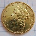 20 Долларов 1875 г. США photo 2