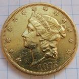 20 Долларов 1875 г. США photo 6