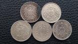 Комплект(5 штук) Две Марки Германия Пруссия 1876-1913 годы. Серебро. photo 6