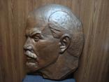 Ленин бронза барельеф 62-49 см.