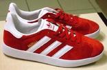 0141 Кроссовки Adidas Gazelle Натуральная замша, Красные 36 размер. 23 см стелька