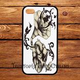 Чехол 2D силиконовый (TPU) iPhone 5/5S Черный. Сердце патифон