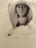 Графіка, ''Жінка''. 23х20.2 photo 6
