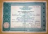 Інвестиційний сертифікат. Перший український фонд приватизації. Перший випуск., фото №2