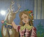 Картина.Девушка и олененок., фото №12