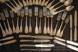 Столовый набор на 8 персон 800 проба общий вес 3525 грамм photo 8