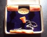 Винтажный набор с кораллом., фото №2