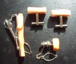 Винтажный набор с кораллом., фото №4