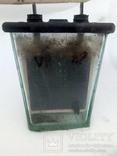 Аккумулятор стеклянный с тепловоза 70-е года, фото №8
