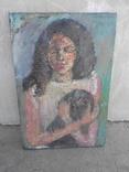 Старинная картина, портрет, 40-60-х год, художник неизвестен
