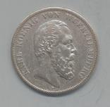 5 марок 1876, Вюртемберг