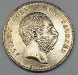 Германия, Саксония, 5 марок, 1900, серебро