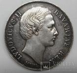БАВАРИЯ, Людвиг II (1864-1886).1 талер 1866 года ,Мадонна