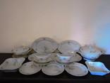 Сервиз антикварный 17 предметов клеймо Oscar Schaller & Co Германия