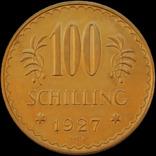 100 шилінгів 1927 року, Австрія. Штемпельна. Золото 23,54 г photo 2