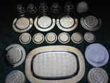 Большой столовый, десертный сервиз (4 кг 670г) photo 10