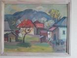 """Картина""""Сельский пейзаж"""", художник Ю.Кресила."""