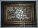 Картина - гравюра '' Птицеловы''. Златоуст. Примерно 1910 г.