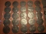 55 памятных монет 1 рубль.